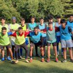 Entrenamiento del juvenil fútbol 11